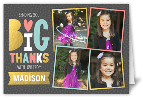 Delightful Collage Girl Thank You Card