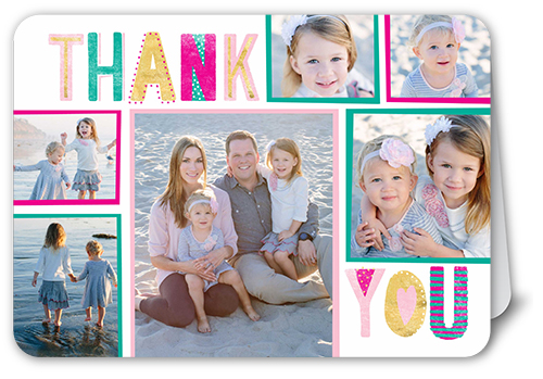 Whimsical Type Thank You Card