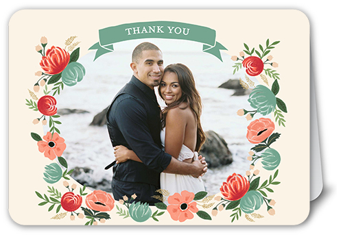 Floral Vision Thank You Card