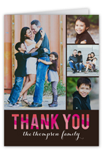 colorful thanks collage thank you card