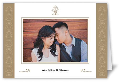 Timeless Gold Wedding Card