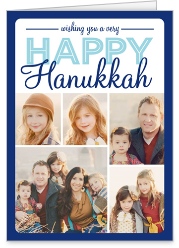 Montage Of Happiness Hanukkah Card by Stacy Claire Boyd