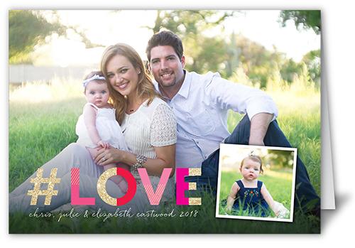 Hashtag Love Valentine's Card, Square Corners