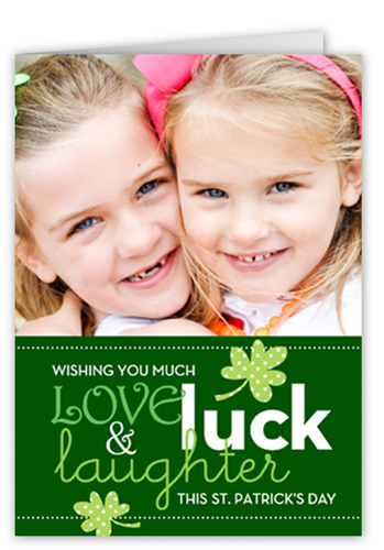 Love Luck Laughter St. Patrick's Day Card