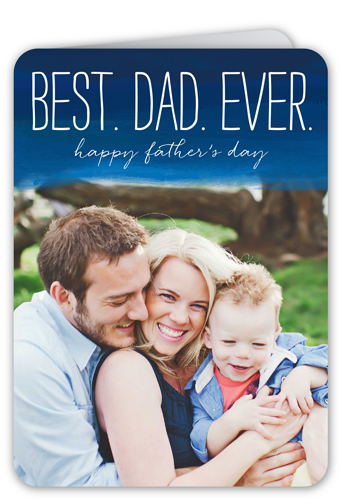 Best Dad Ever Father's Day Card, Rounded Corners