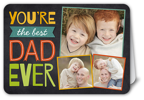 Best Dad Collage Father's Day Card, Rounded Corners