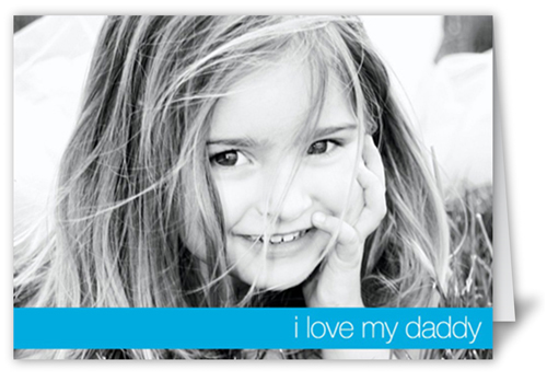 I Love Daddy Father's Day Card, Square Corners