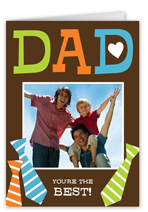 tied to dad fathers day card