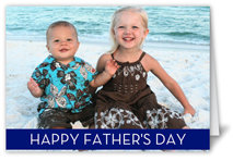 classic band navy fathers day card