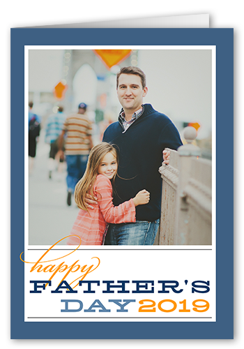 His Day Blue Father's Day Card