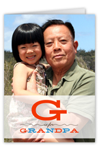 g for grandpa fathers day card