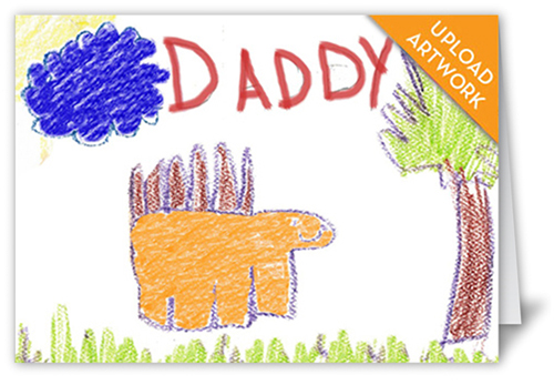 Made For Dad Father's Day Card, Square Corners