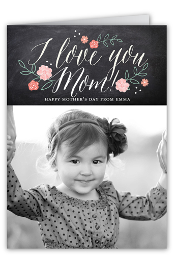 Chalk Love Mother's Day Card, Square Corners