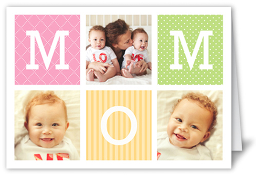 M-O-M Mother's Day Card, Square Corners