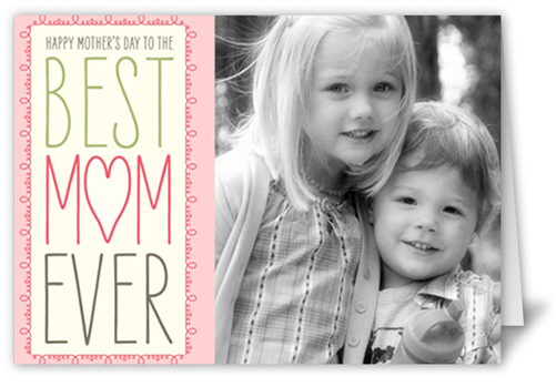 Best Mom Ever Mother's Day Card, Square Corners