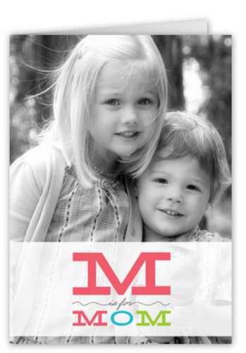 M Is For Mother's Day Card, Square Corners