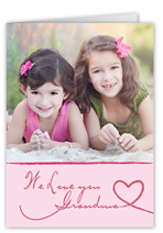 caring cursive mothers day card