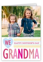 we love grandma mothers day card