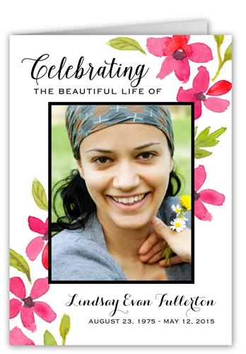 Beautiful Life Sympathy Card
