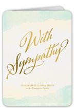 watercolor condolences sympathy card