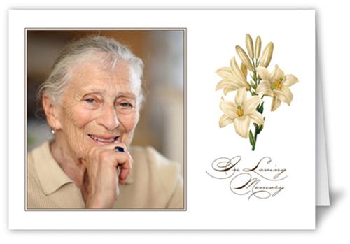 White Lilies  Sympathy Card