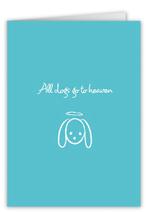 dog halo sympathy card