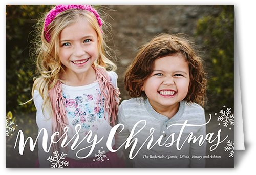 Simply Scripted Merry Christmas Card