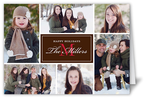 Monogram Moments Christmas Card