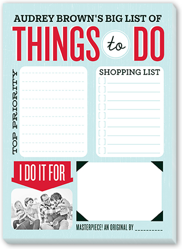 List Of Things To Do 5x7 Notepad