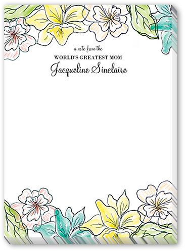 Watercolor Floral 5x7 Notepad