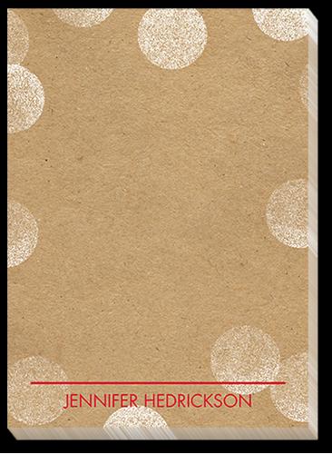 Kraft Bokeh 5x7 Notepad