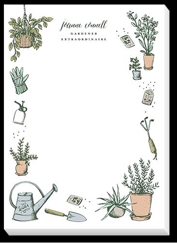 Cheerful Gardener 5x7 Notepad