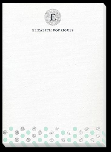 Glamorous Monogram 5x7 Notepad