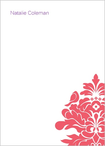 Red Bird 5x7 Notepad