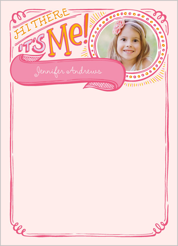 Festive Doodles Girl 5x7 Notepad