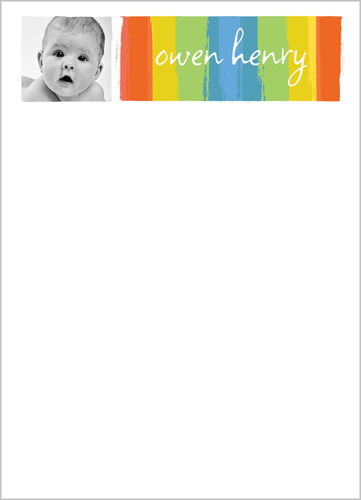 Painted Colors Boy 5x7 Notepad