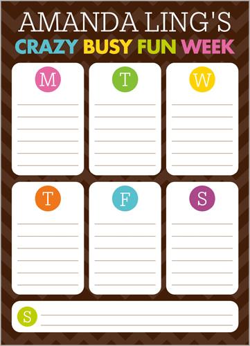 Crazy Week 5x7 Notepad