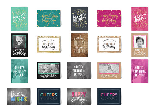 Birthday Cheer Mix & Match Stationery Set