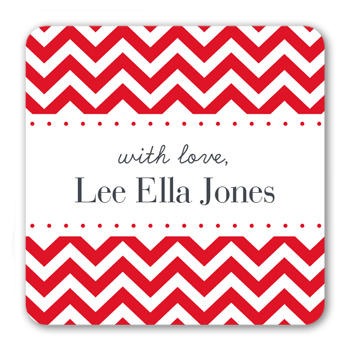 With Love Chevron Stickers