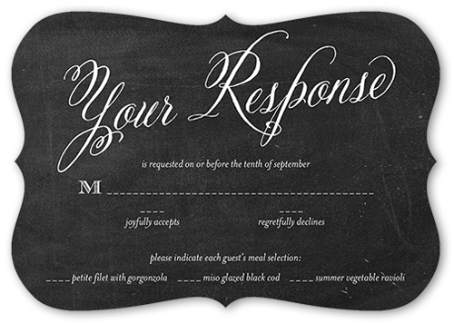 Chalked Union Wedding Response Card