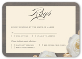 flowering fondness wedding response card