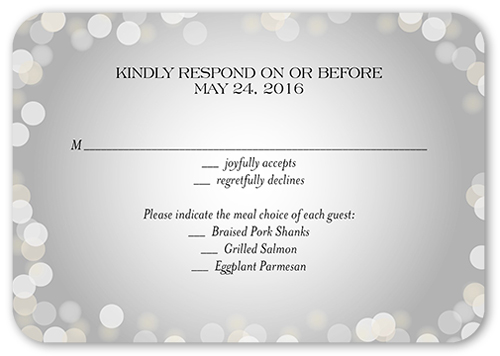 Love In The Air Wedding Response Card, Rounded Corners