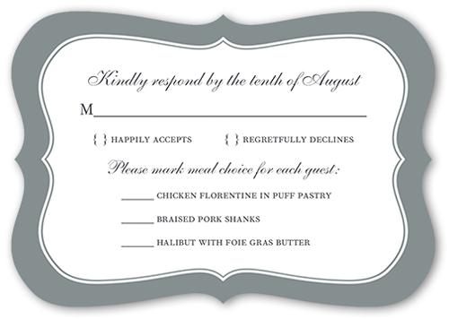 Bordered Euphoria Wedding Response Card By Poppy Studio