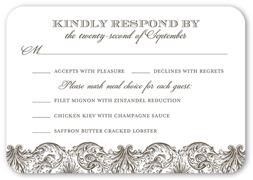 Wedding Rsvp Cards Response Cards Shutterfly