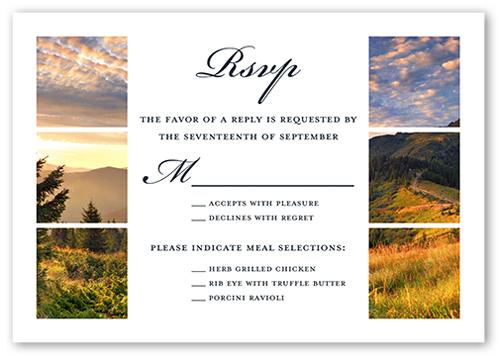 Grid Gallery Wedding Response Card, Square Corners