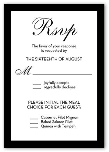 Beginning Of Forever Wedding Response Card, Square Corners