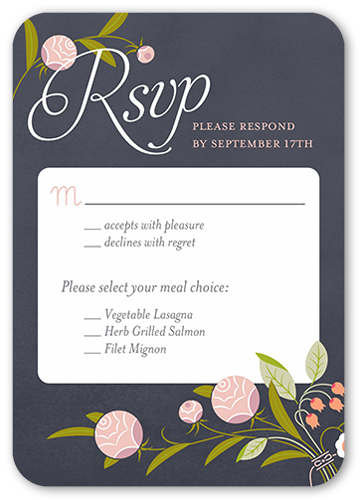 Forever Love Wedding Response Card