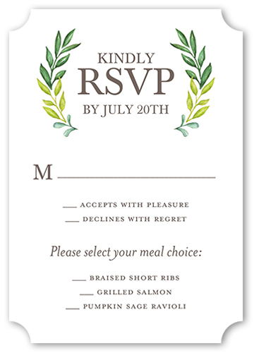 Gleeful Garden Wedding Response Card