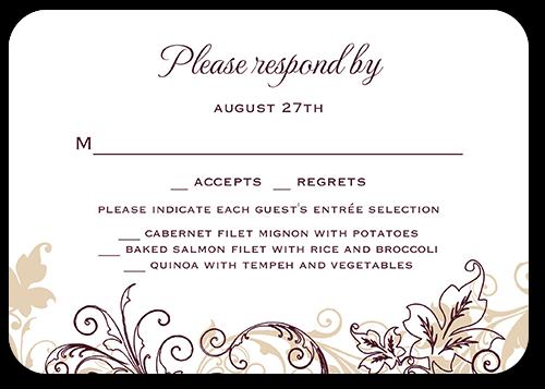 Flourish Golden Wedding Response Card Shutterfly