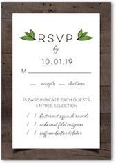 encircled in love wedding response card